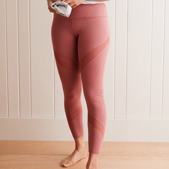 2936aa679b62c aerie Pants | Chill High Waisted Mesh Leggings Wine Xs | Poshmark